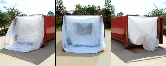 Specialized waste bags can be configured with a bread bag style loading configuration