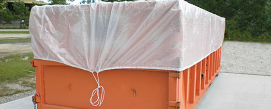 Drawstring liners from EnviroZone in the USA are easy to install and close for transport of waste