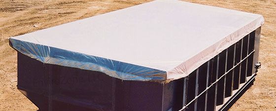 Raincap covers for containers from EnviroZone in the USA
