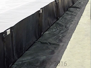 Underlayment and replacement aluminum L-brackets for Spill Berms from EnviroZone